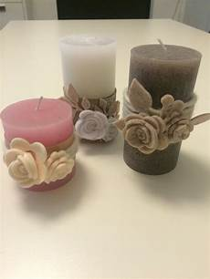 come decorare le candele candele con in feltro fai da te candele di natale