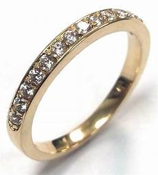 0 22 traditional bridal 14k yellow gold wedding band with diamonds ebay