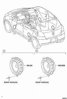 toyota yaris speaker rear audio electrical 8616052220 marietta toyota marietta ga