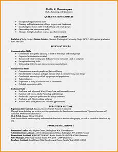 exle of resume skills resume template cover letter