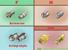 3 Ways To Connect Coaxial Cable Connectors Wikihow