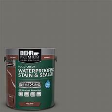 behr premium 1 gal sc 131 pewter solid color waterproofing exterior stain and sealer