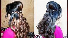 easy party hairstyle with curls tutorial party hairdo