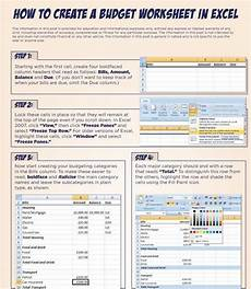 how to create a budget worksheet in excel budget budget spreadsheet budget worksheets excel