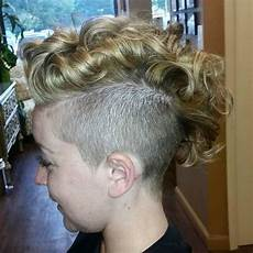 25 exquisite curly mohawk hairstyles for girls women