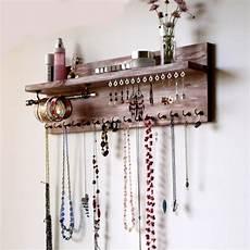 Ketten Aufbewahrung Selber Machen - jewelry organizer with shelf earrings display wall mounted