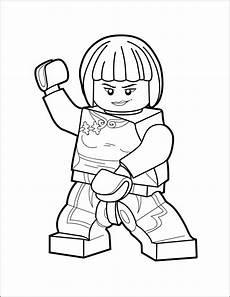 lego ninjago coloring page nya the brick show