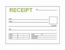 free receipt template template business