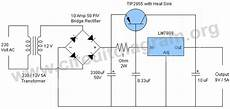 9v 5a Regulated Power Supply Circuit Diagram