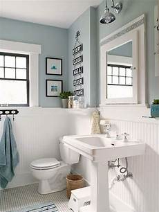 light blue and white bathroom ideas white wood panelling to make light blue bathroom more airy blue bathroom decor white wood