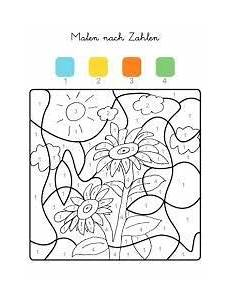 Sonnenblume Malen Nach Zahlen Malvorlage Bauernhof Sonnenblume Zum Ausmalen Kinder