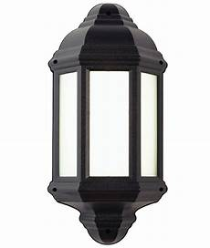 el 40115 black outdoor half wall lantern with pir ip44