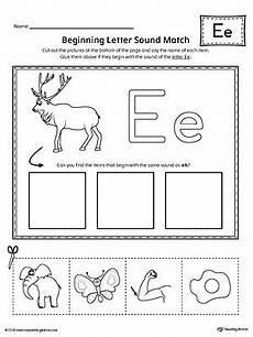 letter e beginning sounds worksheets 24099 letter e beginning sound picture match worksheet beginning sounds worksheets letter e