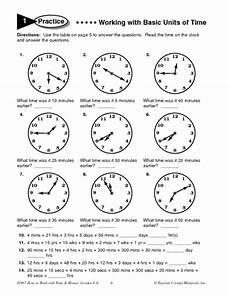 time worksheets 5th grade 3292 working with basic units of time worksheet for 5th 6th grade lesson planet