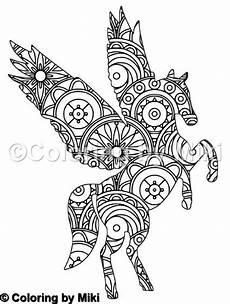 unicorn mandala coloring page 202 mandala coloring pages