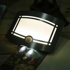 battery powered pir sensor wall light with 6 white leds lights4fun wall lights led bathroom