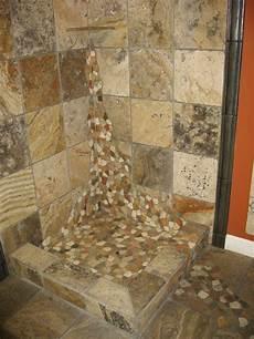 river rock bathroom ideas river rock shower floor