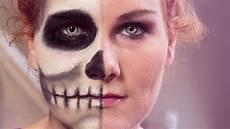 Das Einfache Makeup Totenkopf Schminken Two