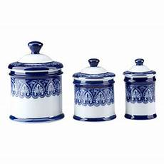 white ceramic kitchen canisters new beautiful blue white porcelain canister set 3