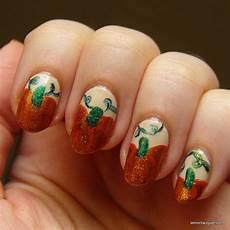 nail art october pumpkins lemon lacquer