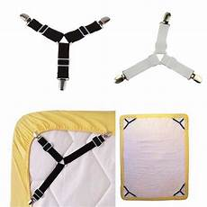 4pcs adjustable triangular bed mattress sheet metal clips grippers straps table cloth fasten