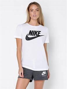 nike womens nike sportswear essential t shirt in white