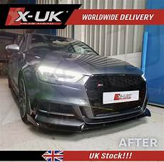 rs3 style front grill gloss black for audi a3 s3 quot 8v