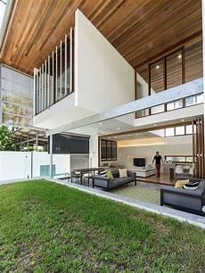 Open Landscape House backyard house in brisbane opens up a light filled
