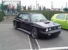 Black Vw Golf Cabriolet Mk1 Mega Tuning Vw Golf