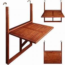 table de balcon suspendue 64x45x87cm bois acacia pliable