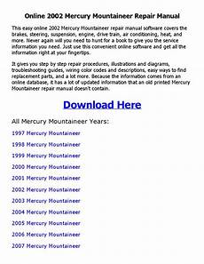 free download parts manuals 2000 mercury mountaineer on board diagnostic system 2002 mercury mountaineer repair manual online by johnny issuu