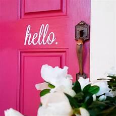 hello home decor hello door decal