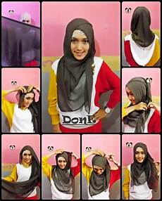 Model Jilbab Segi Empat Untuk Sekolah Dan Cara Memakainya 2017