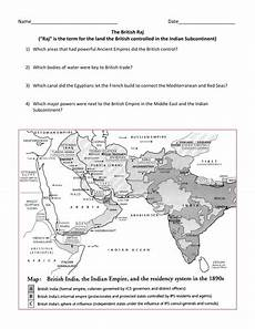 british raj imperialism in india map by groovingup
