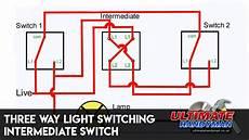 three way light switching intermediate switch youtube