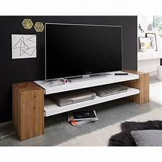 tv board eiche tv rack janes tv board lowboard in wei 223 matt lack mit