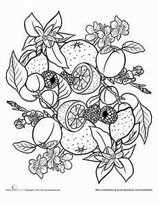 fruit and veggie mandala 2 mandala coloring pages