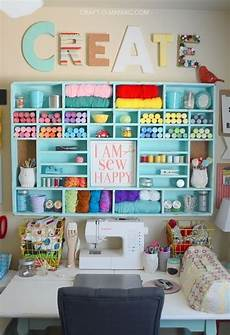 45 gorgeous colourful organizing sewing room ideas for