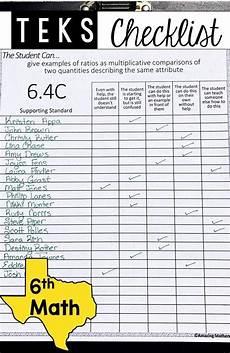 6th math teks checklist quot i can quot think through math teaching 6th grade math
