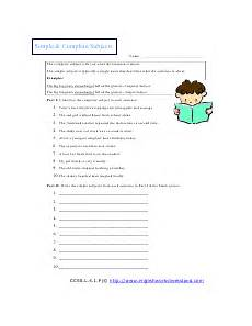 complete and simple subjects worksheets