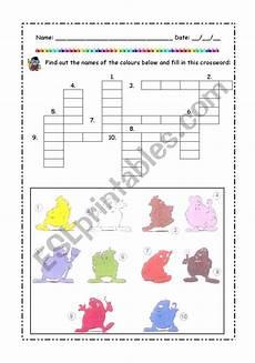 colors crossword worksheets 12726 colors crossword esl worksheet by galoucha