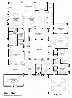 spanish revival house plans with courtyards belamour love those spanish colonial internal courtyards