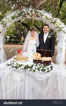 smiling groom near wedding reception 49177363