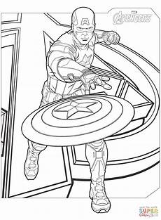 avengers captain america coloring page free printable coloring pages