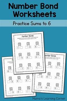 2nd grade math worksheet number bonds number bond worksheets sums to 6 mamas learning corner