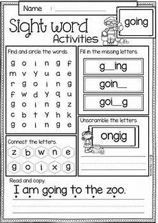 sight word activities first grade by miss faleena tpt