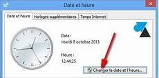 Modification De L Heure modifier la date et l heure d un ordinateur windows