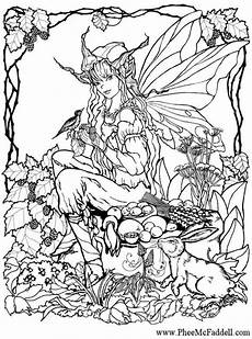 Ausmalbilder Elfen Erwachsene Malvorlage Elfe Im Wald Fairies Wald