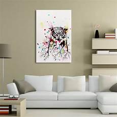Tableau Peinture 224 L Huile Toile Chouette Moderne