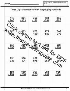 printable math worksheets subtraction with regrouping 10674 three digit subtraction worksheets from the s guide